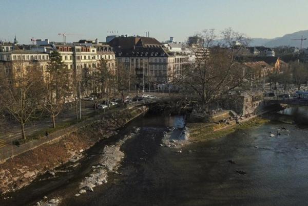 The Sihlpost Dam, Zurich, Switzerland